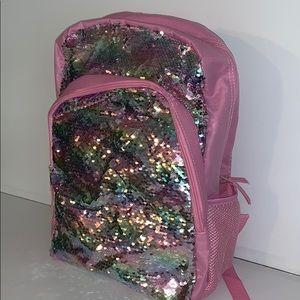 Girl's glitter backpack